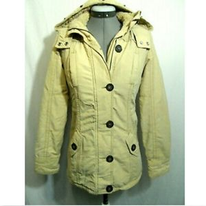 AEROPOSTALE Fleece lined Parka Coat XS Tan Beige